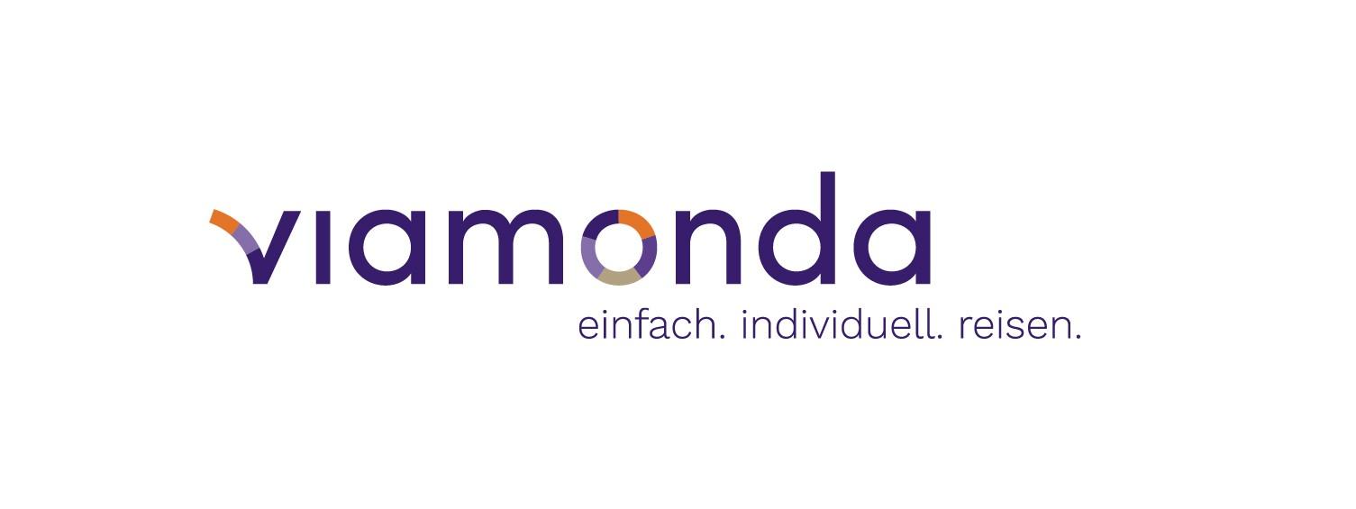 viamonda logo + claim